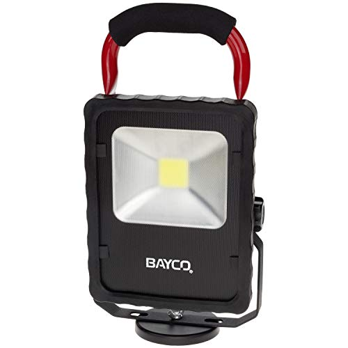 Bayco SL-1514 2,200 Lumen LED Single Fixture Work Light w/Magnetic Base, Red/Black