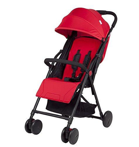 BabyGO 6705 Air ultra leichter Buggy, Kinderwagen mit Liegefunktion, rot