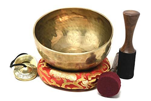 Die Herzen und hohe Herz Chakra F Note auntic von Hand gehämmert Tibet Meditation Klangschale 20,3cm–Yoga Alte Schale von Klangschale Nepal