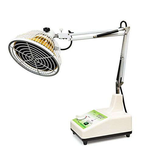 TDP Lamp with Large 7' Head - TDP Far Infrared Lamp for Mineral Heat Therapy - Great for Pain Relief, Arthritis, Inflammation, Sore Muscles and Etc - Desktop Light Therapy Lamp with Changeable Head