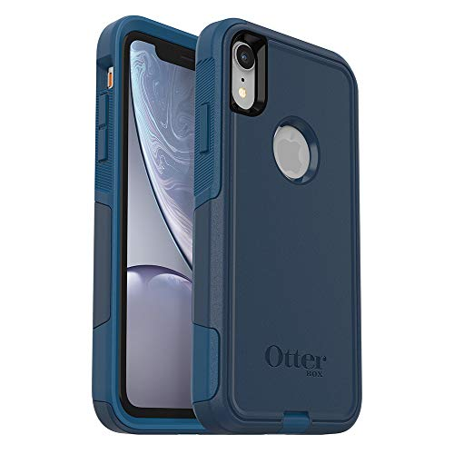 OtterBox Commuter Series Case for iPhone Xr – Retail Packaging – Bespoke Way (Blazer Blue/Stormy Seas Blue)
