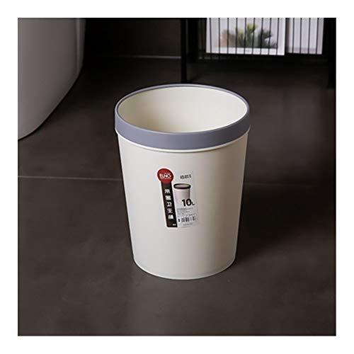 La basura sin tapar Can, 2.6 galones, 7.6 * 9.8 * Plaza 12.2in plástico bote de basura de almacenamiento Cubo con el anillo de presión for Cubos de basura de interior Contenedor de basura Papelera