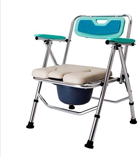 HMMN Silla de Cocina Ajustable de Altura Plegable, Silla de baño para el hogar, Asiento Antideslizante ergonómico, Adecuado para Ancianos y discapacitados