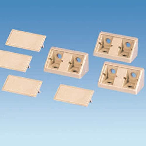 Coverandcarry Doppel-Eck-Verbindungsstück, beige, für den Einsatz in Wohnwagen, Wohnmobilen und Booten, 4 Stück