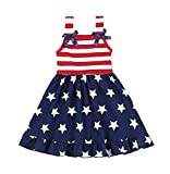 American Independence Day Clothes Set Toddler Baby Girls Boy 4th of July Stars and Stripe Print Patriotic Tops+Shorts Outfits (Navy, 18 Months(80))