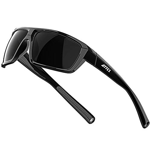 ATTCL Polarized Wrap Sunglasses For Men - Fishing Sports Glasses 100% UV Protection