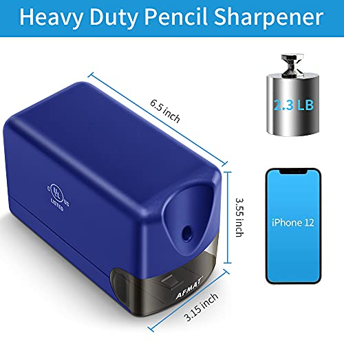 Electric Pencil Sharpener, Heavy Duty Pencil Sharpener Plug in, Classroom Pencil Sharpener for 6.5-8mm No.2 and Colored Pencils, 10000 Sharpening Times w/Upgraded Helical Blade Photo #2