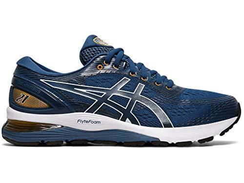 ASICS Men's Gel-Nimbus 21 Running Shoes, 6, MAKO Blue/Black