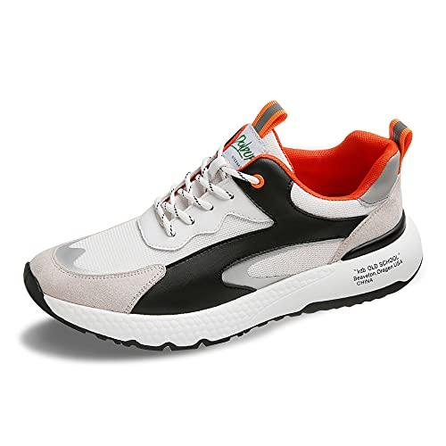 [MERLIN] 7cm身長UPシークレットシューズ 軽量快適背が高くなる靴 メンズ スニーカー インヒールスニーカー 身長アップ 背が高くなる靴 シークレット靴 (ホワイト, measurement_25_point_0_centimeters)