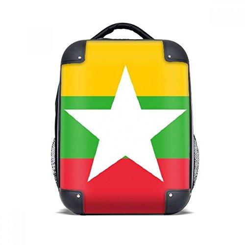 DIYthinker Myanmar Nationalflagge Asien Land Hard Case Schulter Kind-Rucksack-Geschenk 15