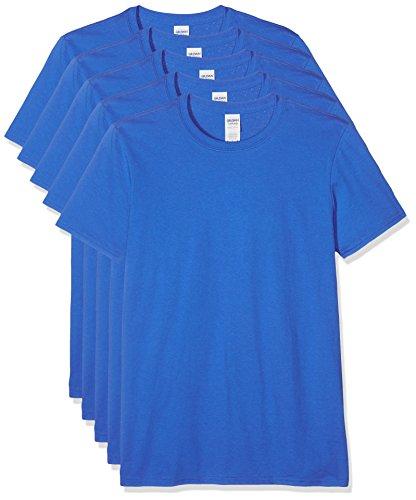 Gildan Herren 64000 T-Shirt, Blau (Königsblau), XL (5er Pack)