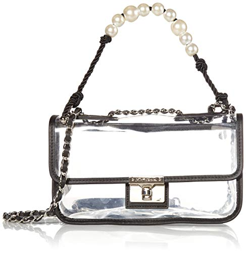 Betsey Johnson Seeing Clearly Pearl Swag Bag, Natural Snake