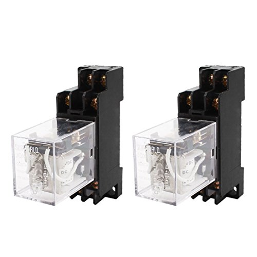 uxcell 2PCS JQX-13F DC12V Coil DPDT 8Pin Power Electromagnetic Relay w Socket