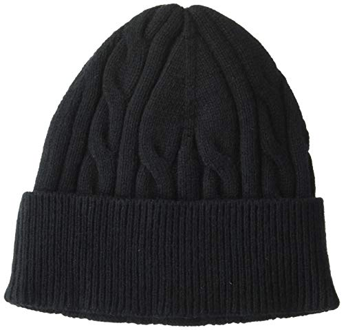 Amazon Essentials Cable Knit Hat hats, Negro, One Size