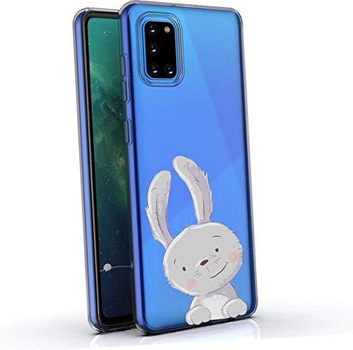 Simar Products Custodia in Silicone per Coniglietto Trasparente Samsung Galaxy A31