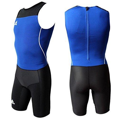 adidas WL Suit M heren lichte atletiek Weightlifting eendelig pak overall blauw-zwart