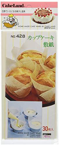 タイガークラウン カップケーキ用敷紙 ��428 グラシン紙 日本 (30枚入) WSK35