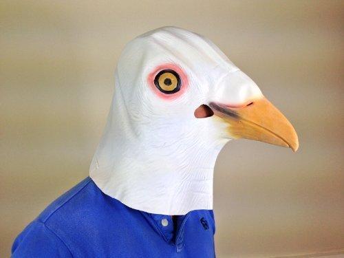 Rubber Johnnies TM Masque Déguisement Oiseau Colombe Film Qualité