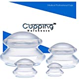 Cupping Warehouse Supreme 4 DEEP PRO 6065 Sturdy Harder RIgid Cups for Advanced Treatments - Professional Cupping Therapy Sets Chinese Silicone Anti Cellulite Massage Suction Cups for Joint, Pain, Muscles, Fascia, Lymph