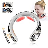 Neck Care Massager - Electric Pulse Neck Massager for Pain Relief & Relax, Intelligent Neckology Massage Back Neck with Heating for Women & Men; Smart Wireless Portable 6 Modes 15 Levels