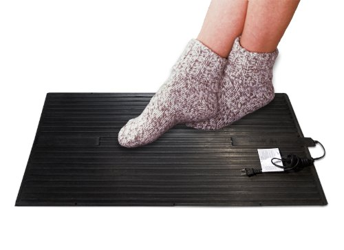 Cozy Products Electric Foot Warmer Mat - Heated Rubber Pad, Small Portable Floor Heater, for Home, Office, Garage, Car Use, 120 Volts, 8 lbs, 14
