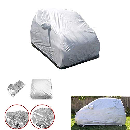 Mallofusa Car Covers Fitted for Smart Fortwo Full Car UV Protection for All Weather Outdoor