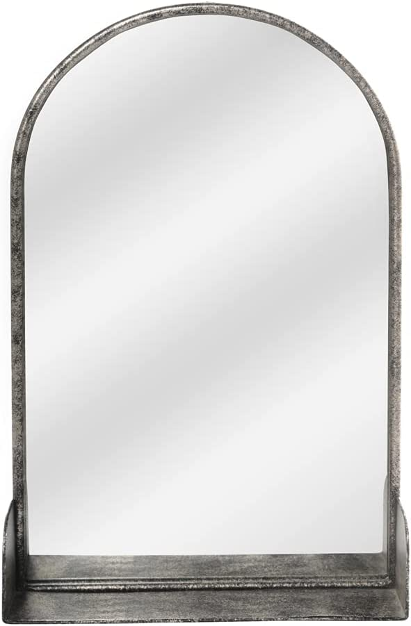 Hanging Wall Mirror with Storage Iron Large Ranking TOP5 Layer Max 76% OFF Wal Decorative