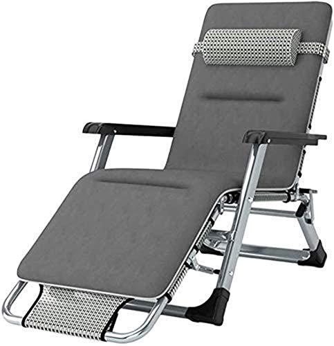 Terras vrije tijd ligstoelen fauteuil Opvouwbare fauteuil tuin schommelstoel verstelbaar in nul zwaartekracht Ligstoel voor buiten terras Platform Gazon Relaxing Ondersteuning voor campingstoel 200 kg (