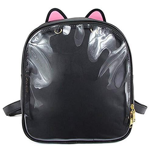 Ita Mochilas para niñas, linda mochila escolar con diseño de orejas de...