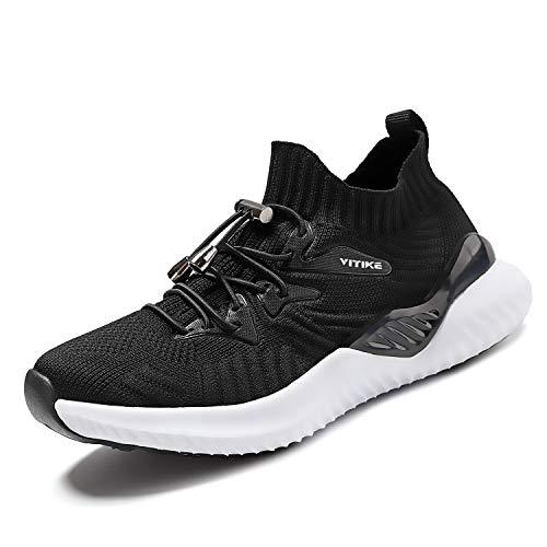 VITIKE Kinder Turnschuhe Jungen Sport Schuhe Mädchen Kinderschuhe Sneaker Outdoor Laufschuhe,87 Schwarz,32 EU