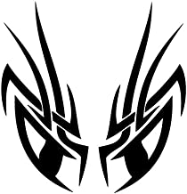 Leon Online Box Eyes Demon - Tribal Decal [Choice] Vinyl Sticker for Car, Bike, iPad, Laptop, MacBook, Helmet