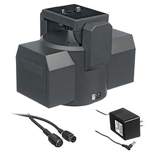 Bescor MP-1E Motorized Pan Head with Power Supply and Remote Extension Cable
