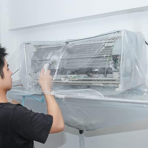 Copertura di lavaggio del condizionatore d'aria, 240 cm con plastica 128 cm 82 cm