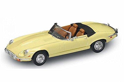 Jaguar E-Type Cabrio 1971 Creme Beige Oldtimer 1/43 Yatming Modellauto Modell Auto
