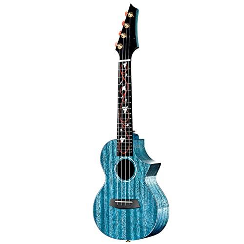 PSHH Sopran Ukulele,Ukelele Starter Bundle Kit Mit Gitarrentasche,Ukelegurt,Saite,Reinigungstuch Hawaiianische Gitarre (Color : Blue, Size : 23inch)