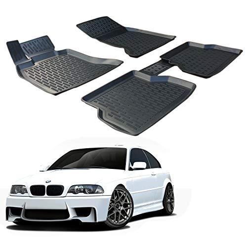 SCOUTT | 3D Tapis DE Sol en Caoutchouc Premium Compatible avec BMW 3 Series E46 1998-2005