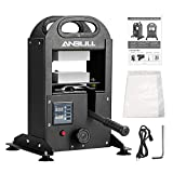 Anbull 5Tons(15432.35lb Max pre) Hydraulic Heat Press Machine with LCD Controller,3×5inch Dual Heating Plate,800w Portable Dab Press
