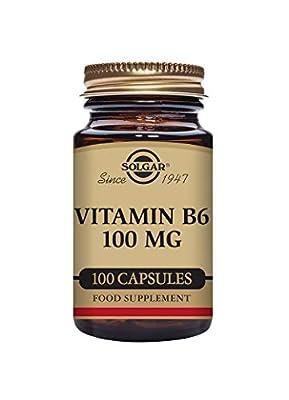 Solgar Vitamin B6 100 mg Vegetable Capsules - Pack of 100