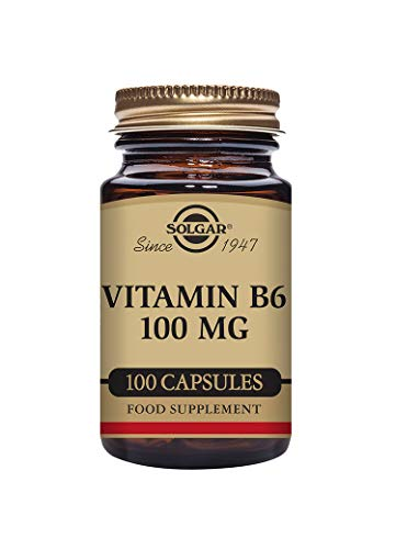 Solgar Vitamin B6 100 mg Vegetable Capsules - Pack of 100