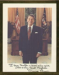 President Ronald Reagan - Inscribed Photograph Signed