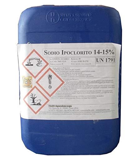Cloro Liquido Piscine ipoclorito sodio kg 10 Maris