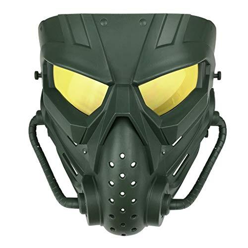 Julhold - Disfraz de rostro falsificado para Halloween, cosplay, para caza, combate C4. Talla única