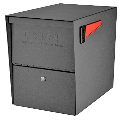 Mail Boss 7205 Package Master Curbside Locking Security Mailbox | Granite