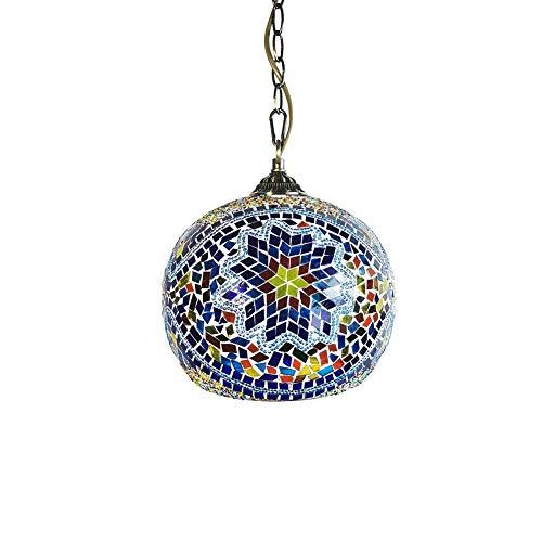 HJW Marruecos Colgante Hecho a Mano Turco Luz de Cristal de Estilo Lámparas Colgantes Lámpara Árabe Del Este de Bohemia Otomana Mosaico de Iluminación de Techo de Cocina Café Bar Comedor