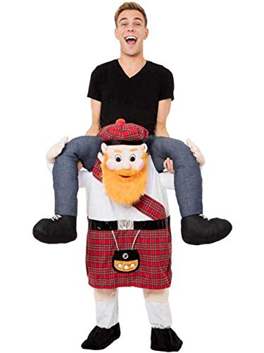 mR Tooo Scotsman Shoulder Carry Halloween Costume Chritsmas Party Fancy Cosplay Funny Dress Suit