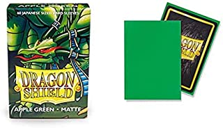 Dragon Shield Matte Mini Japanese Apple Green 60 ct Card Sleeves Individual Pack