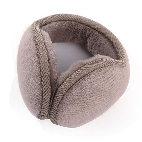 Durio Winter Ohrenschützer Damen Ohrenwärmer Herbst Warme Earmuffs Verstellbar Ear Cover Kaffee