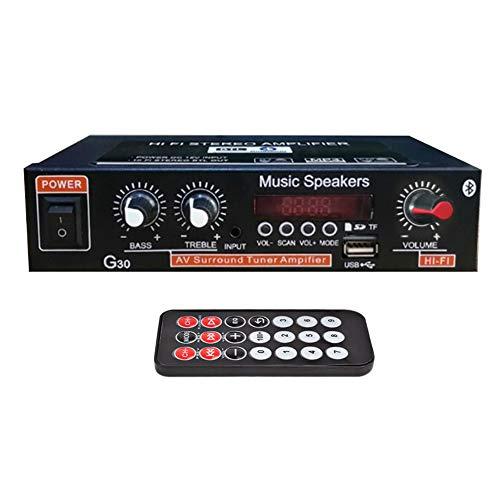 ORETG45 Sistema Amplificador estéreo Karaoke G30 Canal Dual Energía Sonido portátil Receptor Audio Hierro Inalámbrico uetooth HiFi Radio FM MP3 Digital Home Theater(UE)