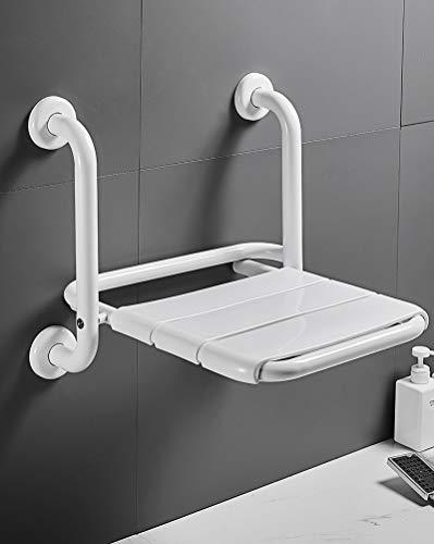 LXVY Asiento de Pared Plegable para baño, Barras de Agarre para baño, Silla de baño para discapacitados, Taburete de baño Antideslizante de ABS