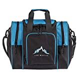 Himal Bowling Bag for Single Ball - Bowling Ball Tote Bowling Bag with Padded Ball Holder - Fits Bowling Shoes Up to Mens Size 14